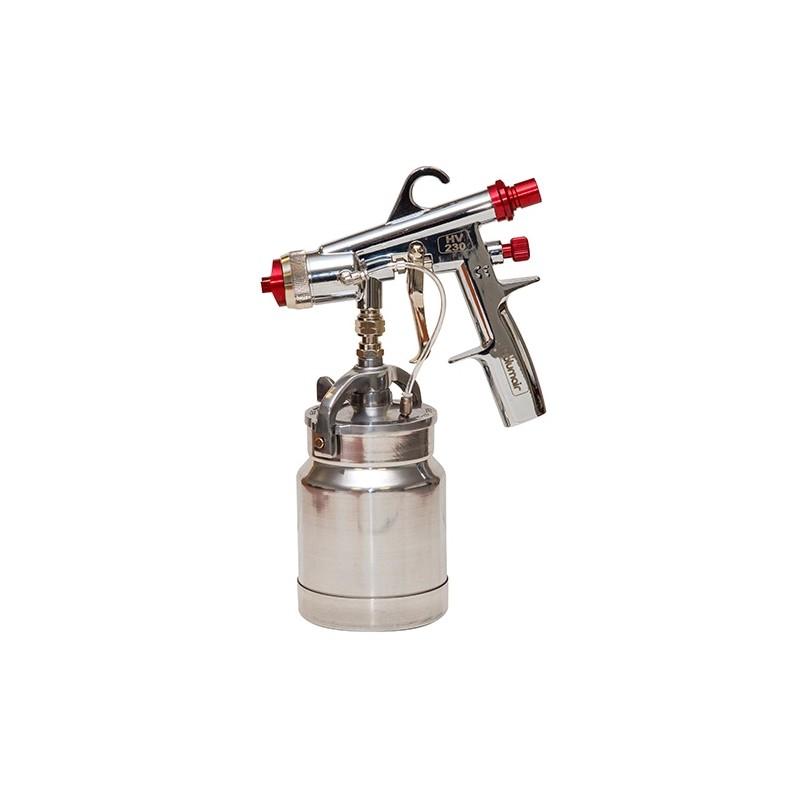 Pistolet peinture godet 1 litre HV230 pour turbine