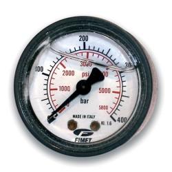 "Manomètre axial 1/4"" conique huile 63 mm 0 à 400 bar"